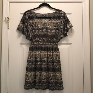 Printed Chiffon Dress (Size: S)